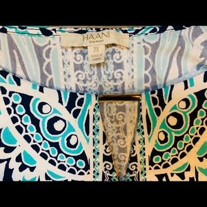 Haani Dresses - Blue teal shift sun dress plus size